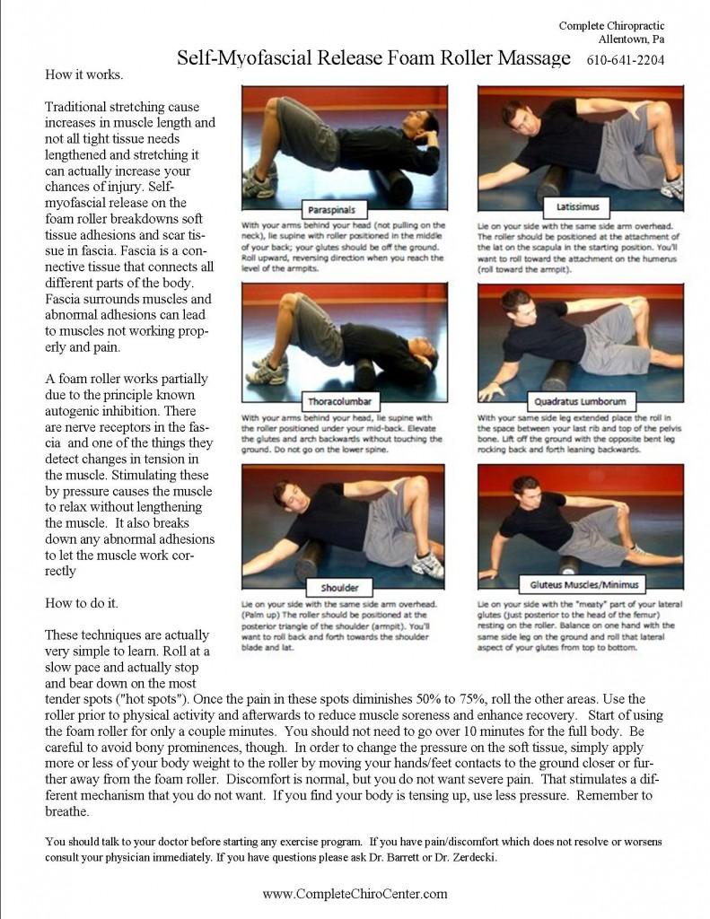 foam rolling - Myofacial Massage
